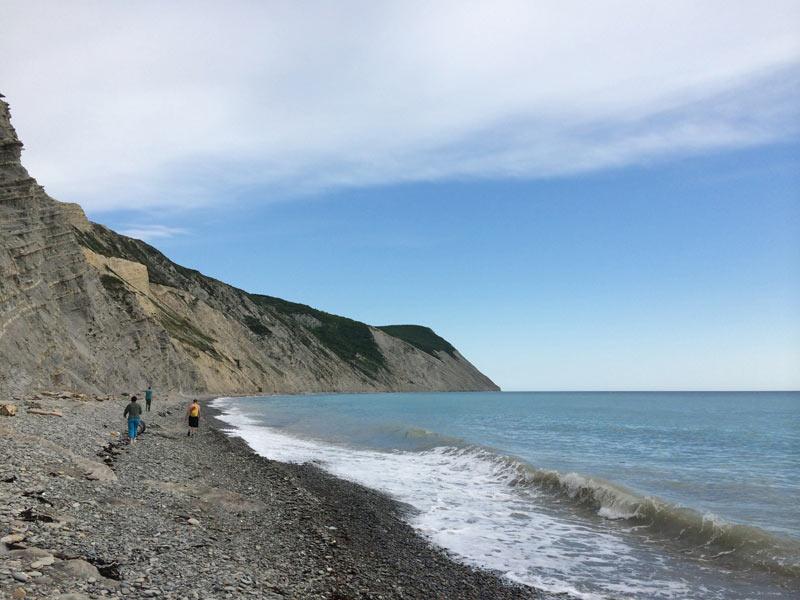 Побережье Черного моря недалеко от Анапы