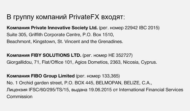 группа PrivateFX