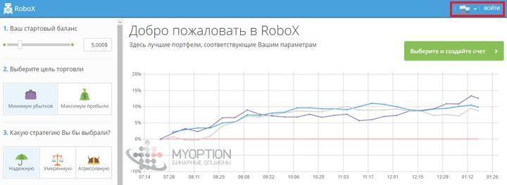 Войти в RoboX