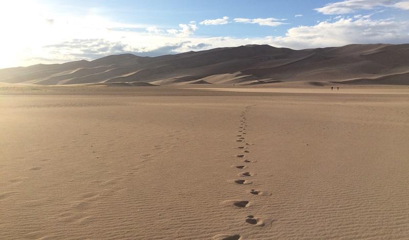 песчаные дюны в Колорадо