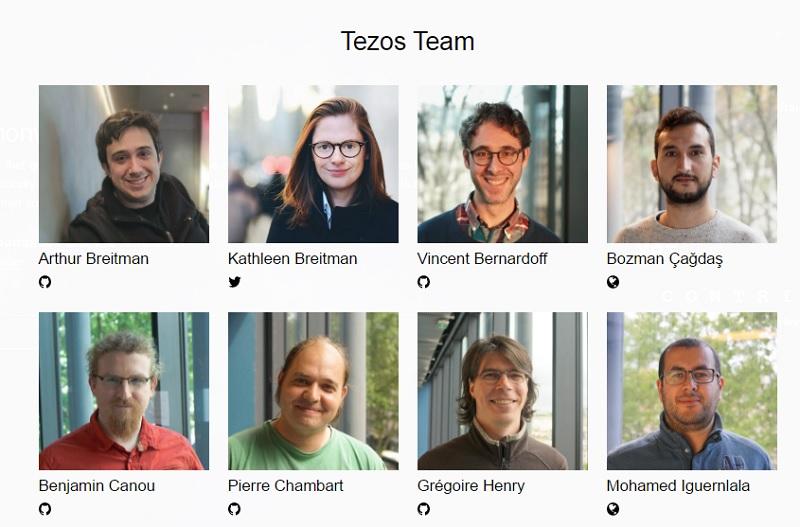 команда стартапа Tezos