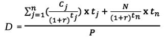 дюрация формула