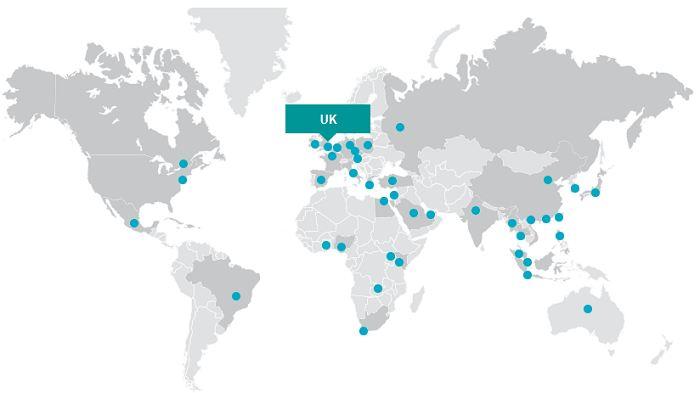 Присутствие IHS Markit в странах мира